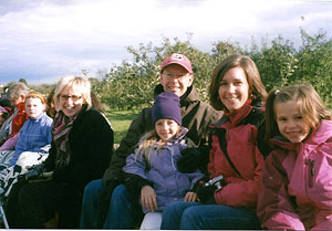 Enjoy a fall hayride, get fresh, locally grown apples and apple cider, and enjoy the farm, at Alber Orchard, Manchester, Michigan, west of Detroit and Ann Arbor.